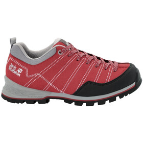 Jack Wolfskin Scrambler Chaussures à tige basse Femme, red/light grey